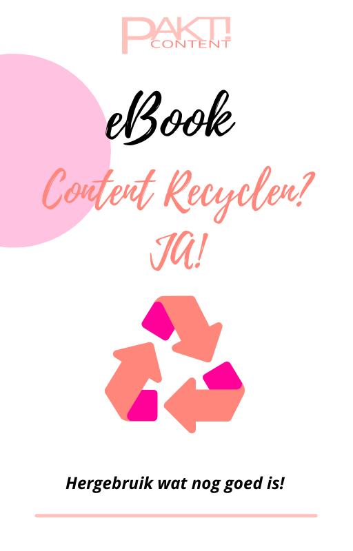 eBook Content Recyclen JA!