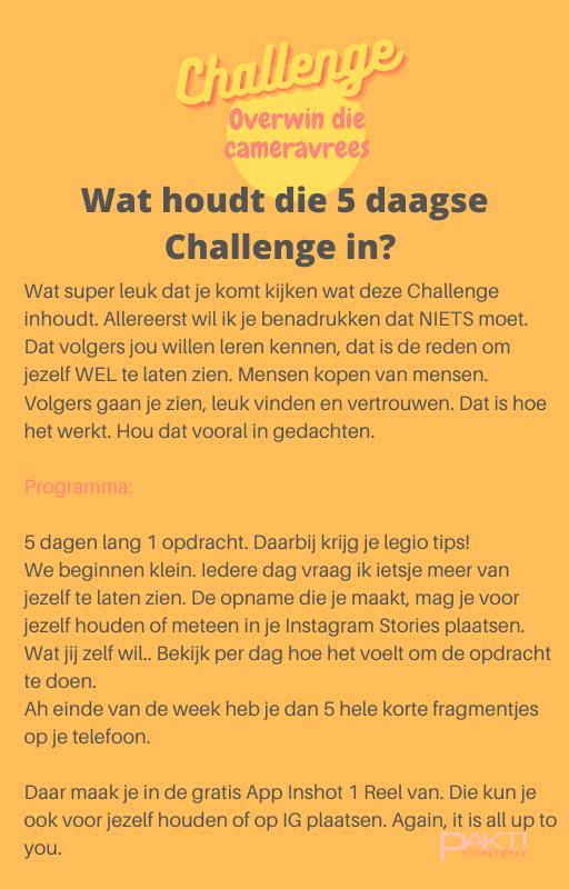 Uitleg Challenge op website